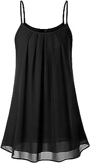 DJT Women's Spaghetti Strap Sundress Summer Floral Swing Dress