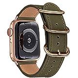 BesBand Armband Kompatibel mit Apple Watch Armband 42mm 44mm 38mm 40mm,Top Leathe Ersatz-Uhren...