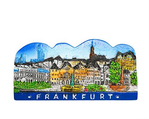 Gerechtigkeitsbrunnen, Romerberg, Frankfurt am Main, Deutschland 3D Harz Kühlschrank Magnet Reise Souvenir Tourist Geschenk Home & Küche Dekoration