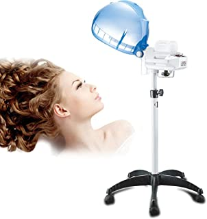 650w Salon Hair Steamer Stand Up Hair Color Processor for Hair Treatment Barber Spa Tools Rolling Floor Base Hair Steam Ad...