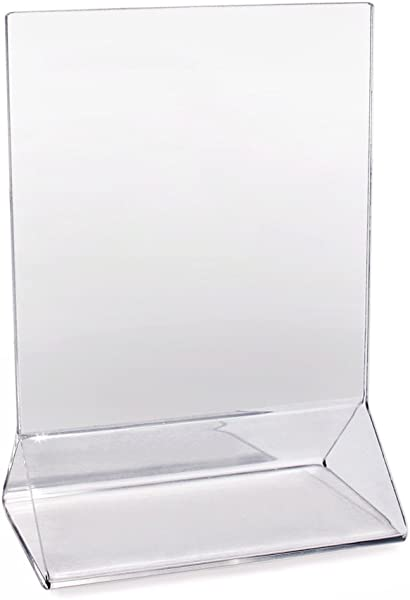 New Star Foodservice 22919 Acrylic Table Menu Card Holder 3 5 By 5 Inch Clear Set Of 12