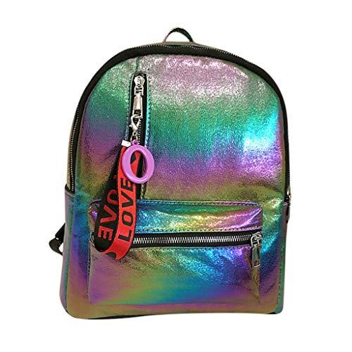 H.eternal(TM) - Bolso mochila de Pu para mujer Multicolor Multicolor M