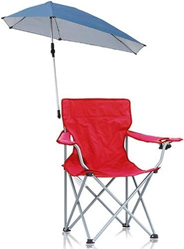 HCFSUK Chaise de Camping Pliante Chaises de Jardin Extérieure Pliante Plage Parc Portable Chaise de Loisirs Conduite Autonome avec Parasol,A