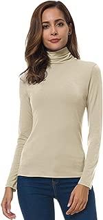 Womens Long Sleeve Turtleneck Lightweight Slim Active Shirt
