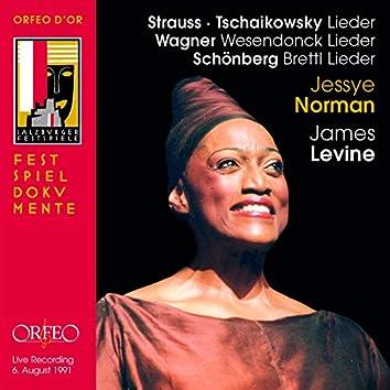 Strauss, Tchaikovsky, Wagner & Schoenberg: Lieder (Live)