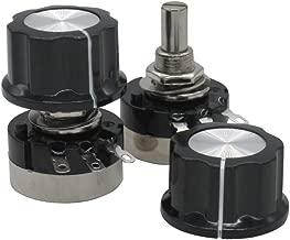 2pcs RV24YN20S B501 500 ohm Carbon Film Potentiometer Single-Turn Potentiometer + 2pcs A03 knob