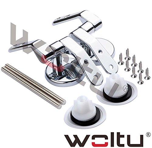 WOLTU EZT-WS2307ER+EZT-WS2301ER, Ersatzteil Toilettensitz Scharniergelenk + Schraubenset Montagematerial für Toilettensitz MDF ohne Absenkautomatik