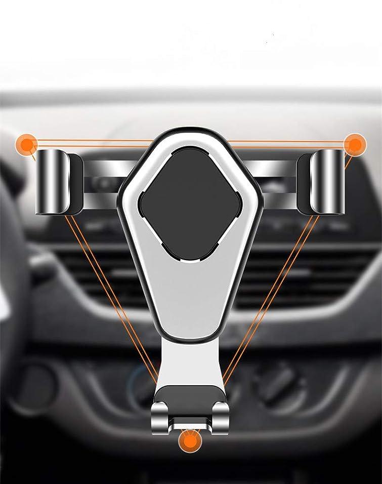 遠え真鍮スプリットTicent 車載用スマホホルダー 車載ホルダー スマホホルダー 重力固定式 エアコン吹き出し口用 多機種対応