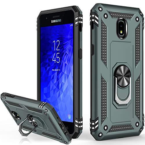 Galaxy J3 2018 Case,Galaxy J3 Star/J3 2018/J3 Orbit/J3 Achieve/J3 Prime 2/J3 Emerge 2018/Amp Prime 3/J3 Eclipse 2/Sol3/J3 Aura Case,Protective Phone Case for Samsung Galaxy J3 2018 Pine Green