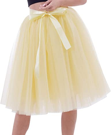 Faldas de Tul Falda Tutu Mujer Falda Tul Midi 7 Capas Disfraz Fiesta Tutú para Bodas Disfraces con Tutu Ballet Volantes Adulto Enaguas para Vestidos ...