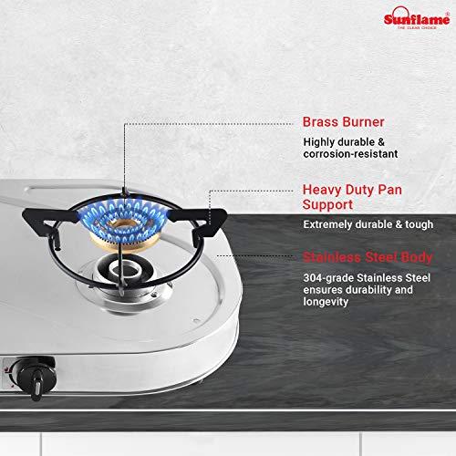 Sunflame SHAKTI STAR 3B SS 3 Burner Gas Stove (Manual Ignition, Silver)