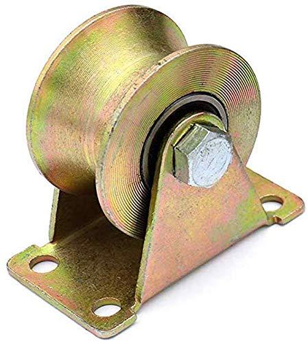 Stijve U-Groove Roller Roller met schuifpoort Kleur verzinken high-Performance Rollers voor schuur Deuren 45-Gat Staal schuifpoort Accessoires voor poort Frames trolleys voor Industriële 32 mm.