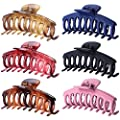 6 PCS Large Hair Claw Clips for Women, 4.3 Inches Big Nonslip Hair Claw Clips Jaw for Girls, Fashion Hair Accessories Strong Hold Banana Hair Clips for Thick/Thin Hair
