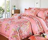 Weimilon Baumwolle Bettbezug Blumen,Einzigen,Student,Individuell,Double,Vier Jahreszeiten A Casual Chic 150X215Cm(59X85Inch) (Color : S, Size : 220 * 240Cm)