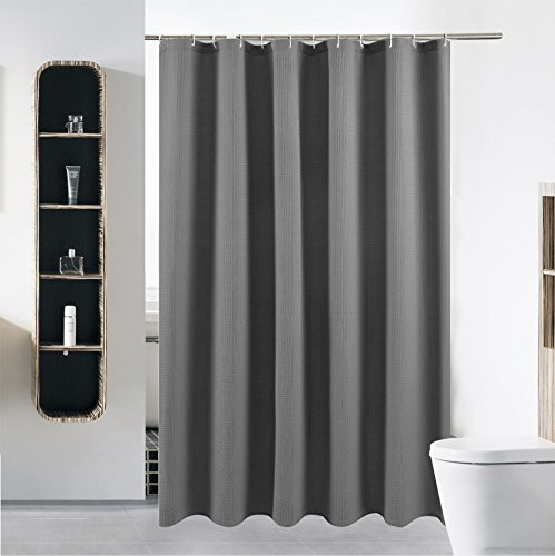 S·Lattye 40 x 72 Grey Shower Curtain Liner Water Repellent...