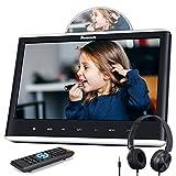 NAVISKAUTO 12' Car DVD Player with HDMI Input Headphone Mounting Bracket HD Screen Support Sync Screen Last Memory Region Free