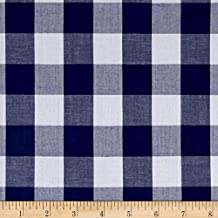 Best navy gingham fabric Reviews