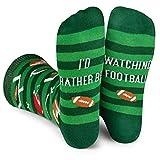 Lavley - I'd Rather Be Watching Football - Men's Novelty Socks - Fun Dress Socks For Work