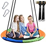 WONDERVIEW Tree Swing, Outdoor Swing with Hanging Strap Kit, 40 Inch Diameter 600lb Weight...