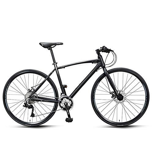 ZTBXQ Sports Outdoors Commuter City Road Bike Bicycle Mountain 30 Speed Road Adult Commuter Lightweight Aluminium Road Bicycle 700 25C Wheels Racing Bicycle with Dual Disc Brake Gray Black