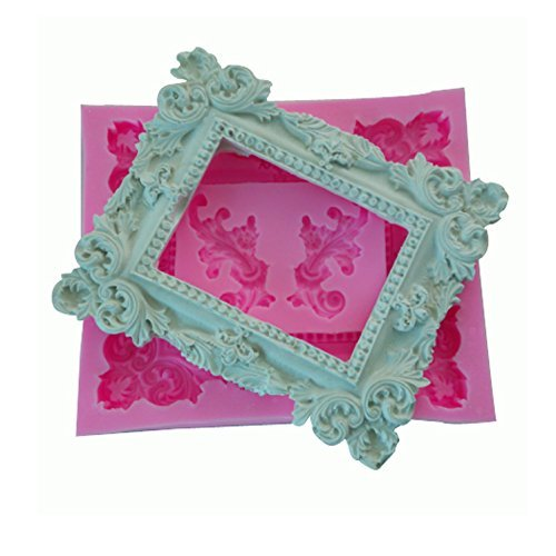SEPTEMBER Vintage European Relief Frame Silicone Mold,Handmade Soap Mould,Cake Mould Decorating,Fondant Baking Mold, Coconut Tree, Sunglasses, Swimsuit, Umbrella
