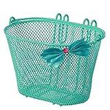 Basil Jasmin Cesta para Bicicleta Infantil, Unisex niños, Verde, 28 cm x 20 cm x 19 cm