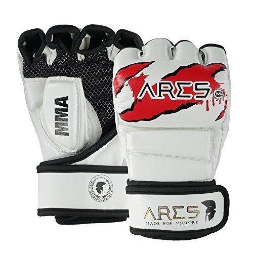 Ares Premium MMA Handschuhe | Verstärkte Nähte | Grappling Gloves Herren & Damen