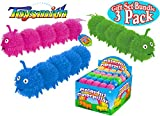 Toysmith Colorful Caterpillar Puffer Ball Party Set Bundle - (Assorted Colors) by Toysmith