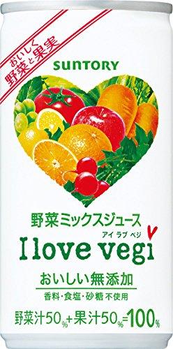 サントリー クーポン対象商品 〔 北海道 沖縄県を除く〕 I love vegi アイラブベジ 190g 缶 30本×2 まとめ買い クーポンコード:7PSSAG7