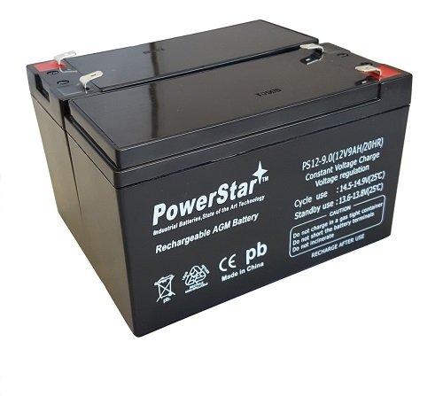 PowerStar Replacement 12V 9AH SLA Battery for Razor e200 / e200s / e225 / e300 / e300s / e325-2PK