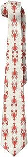 Red Lobster Men's Tie Long Necktie Skinny Neckwear Silk