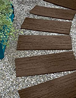 Gardener's Supply Company Recycled Rubber Railroad Tie Stepping Stone