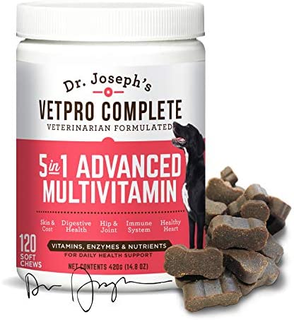 VetPro Complete 5 in 1 Multivitamin for Dogs with Glucosamine Chondroitin Probiotics Vitamins product image