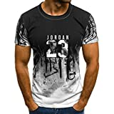 camiseta michael jordan bulls 23 Ropa de alta calidad Jordan 23 del hombre del verano t shirts Hombres Camuflaje O-cuello Moda Impreso 23 Camiseta de Hip-Hop Hombres Ropa Casual Top