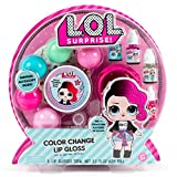 L.O.L. Surprise! Color Change Lip Gloss By Horizon Group USA, Mix & Create 5 Color Changing Multi Flavored Lip Glosses,DIY Lip Gloss Making Kit, Containers & Decorative Stickers Included.Multicolored