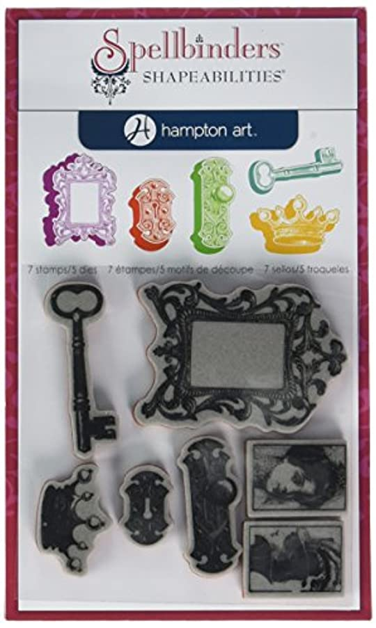 Hampton Art Cling and Die Pink Diffusion Royal Affair Rubber Stamp