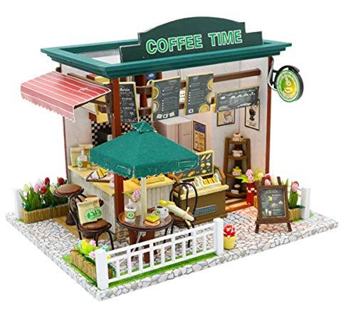 AHWZ Doll House Suite Mini DIY Coffee House bietet das Beste Geburtstagsgeschenk für Teenager