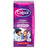 Calpol Infant Suspension, Paracetamol Medication, For 2+ Months, Strawberry Flavour, 100ml