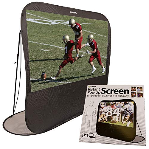 "Sima XL-84POP 84"" Pop Up Instant Portable Projection Screen, Black"