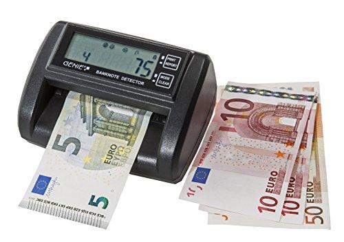 Genie MD 212-A Geldscheinprüfer mit Zählfunktion (integrierter Geldscheinzähler, elektronisch, inkl. Netzteil, optional mit Batterie Betrieb)