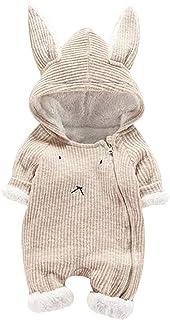 SUCES Baby Strampler Neugeborene Süß Herbst Kapuze Warm Mädchen Overall Jungen Outfits Schön Hoodie Dick Set