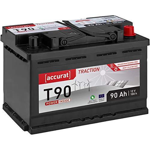 Accurat 12V 90Ah Nass Versrogungsbatterie (wartungsfrei) in 6 Varianten: 90-260Ah