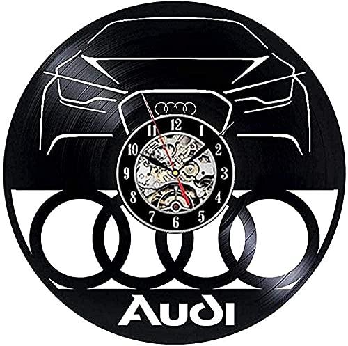 jjyyy Reloj de Vinilo para Coche Reloj de Pared diseño Moderno decoración de Coche salón de Belleza Reloj de Pared de Vinilo Retro Reloj de Pared decoración del hogar