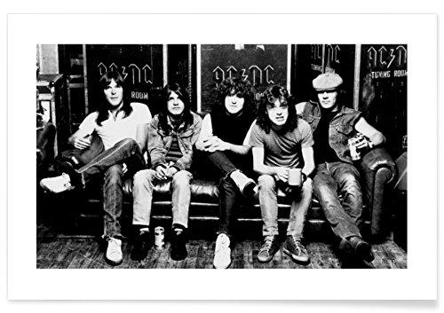 """JUNIQE® Rock Musiker Poster 20x30cm - Design """"AC/DC"""" entworfen von Vintage Photography Archive"""