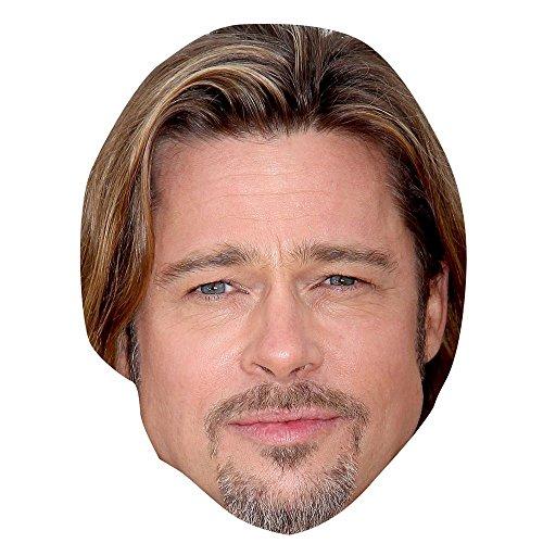 Celebrity Cutouts Brad Pitt Maske aus Karton