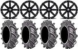 Bundle - 9 Items: MSA Black Clutch 14' ATV Wheels 30' BKT AT 171 Tires [4x156...