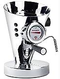 BUGATTI, Diva, Macchina da Caffè Espresso e Cappuccino, per caffè macinato in polvere e cialde, 15 bar, 950 W, Capacità 0.8 Litri, Design Elegante (Cromo)