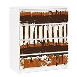 Apalis Möbelfolie für IKEA Malm Kommode Selbstklebende Folie Ethno Streifen 4X 20x80cm