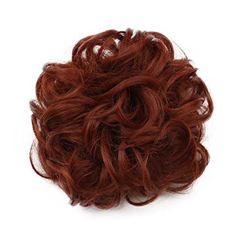 Karlery Women Short Curly Different Colors Bud Ball Brown Wig Updo Chignon Bun Extensions Scrunchy Scrunchies Hair Pieces