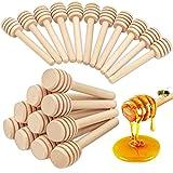 WZYTEU - 35 varillas de miel envueltas individualmente para jarra de miel, dosificador, miel, boda, fiesta, regalo de regalo (10 cm)